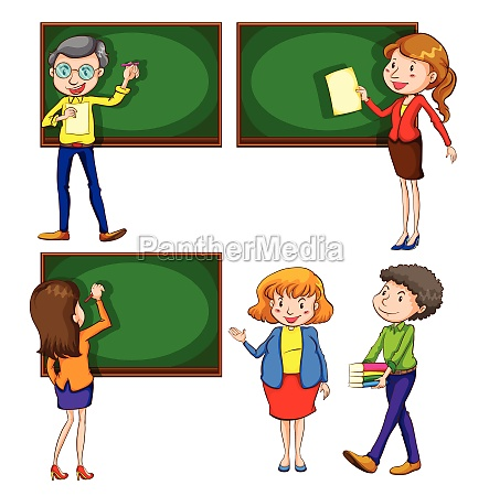 a, coloured, drawing, of, teachers - 30249132