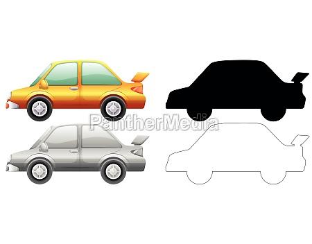 set, of, car, graphic - 30255233