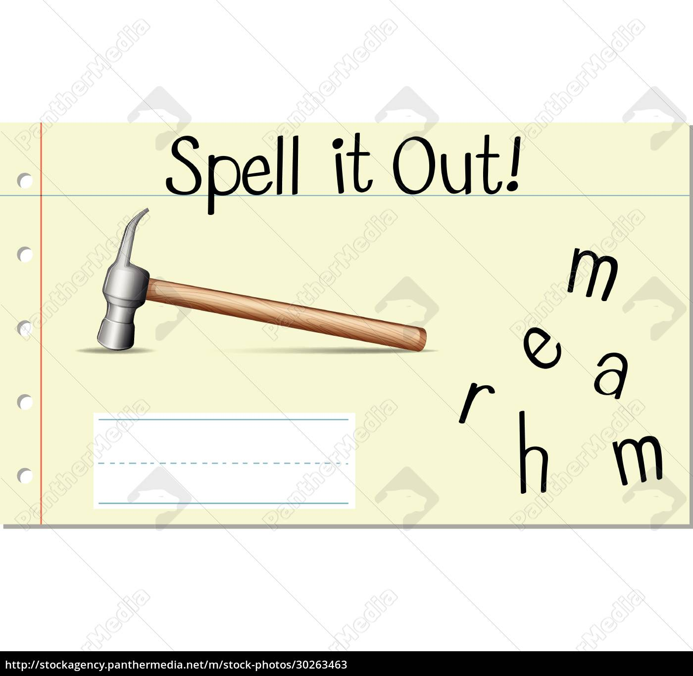 spell, it, out, hammer - 30263463