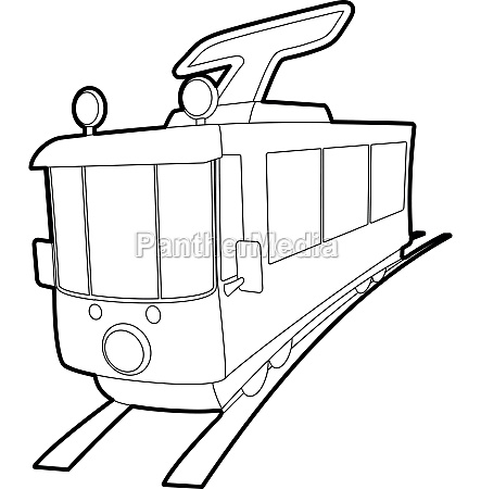 tram, icon, , outline, style - 30281038