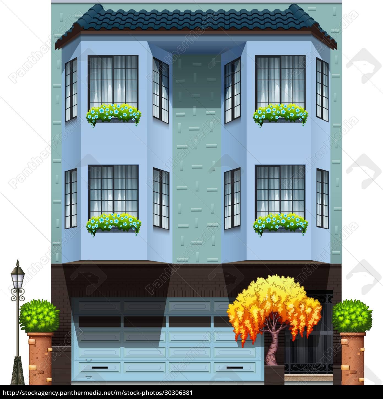 a, building, with, decorative, plants - 30306381