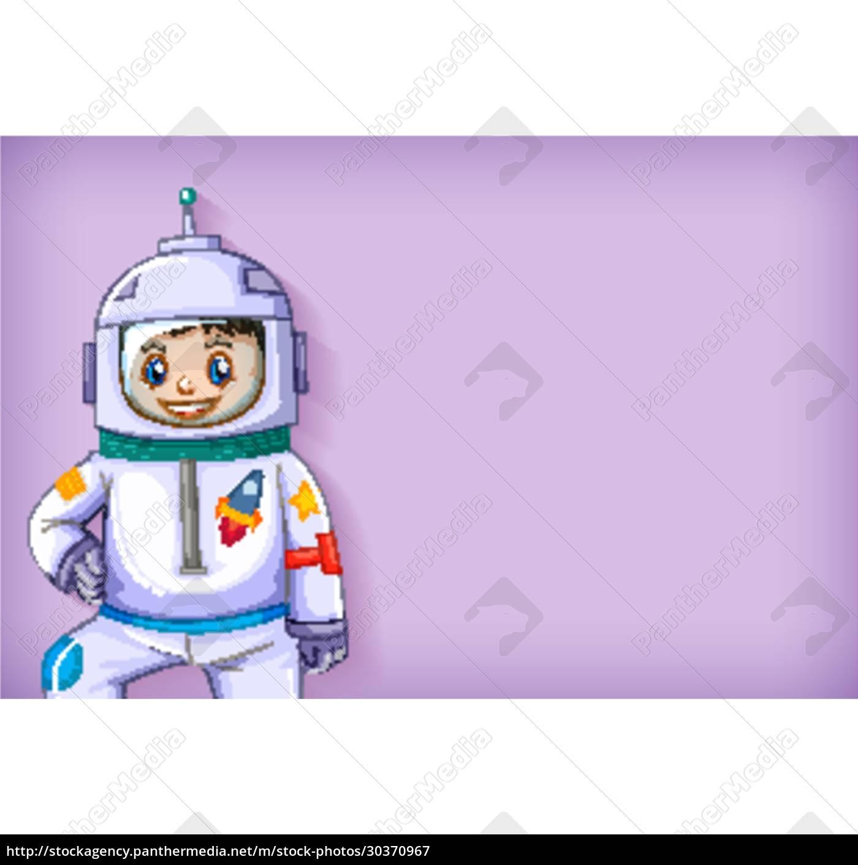 einfache, hintergrundvorlage, mit, glücklichem, astronautenlächeln - 30370967