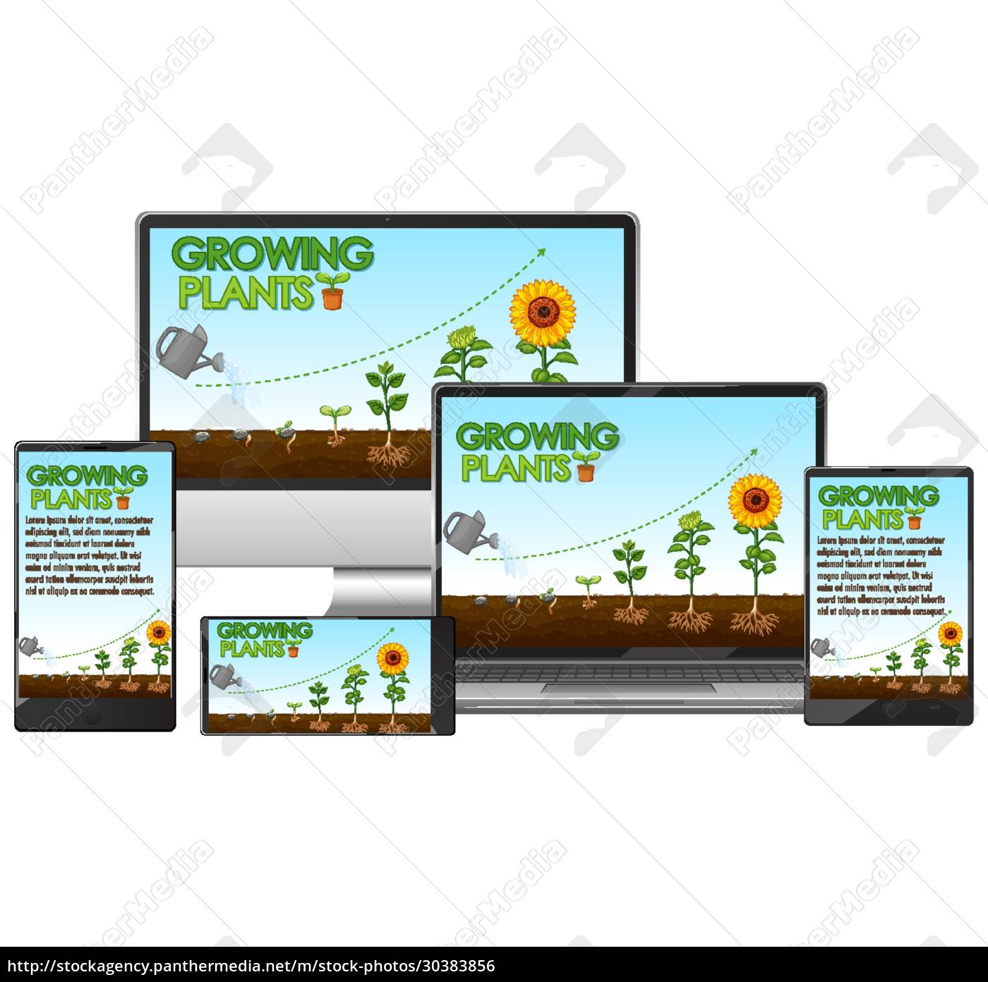 glowing, plants, on, computer, screen - 30383856