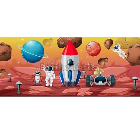 astronaut, in, space, scene - 30385025