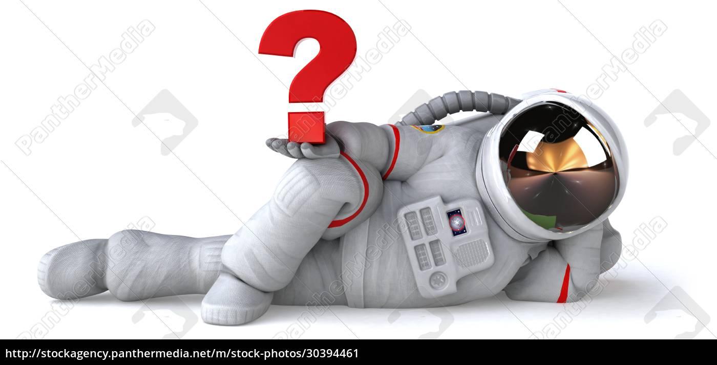 fun, astronaut, -, 3d, illustration - 30394461
