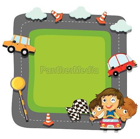 border, design, with, kids, and, traffic - 30437861