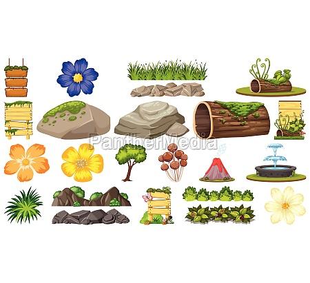 set, of, ornamental, plants - 30507271