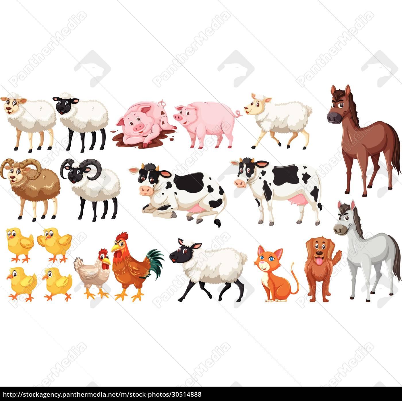 set, of, farm, animals - 30514888