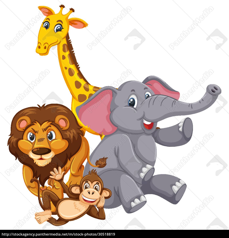 different, types, of, wild, animals, on - 30518819