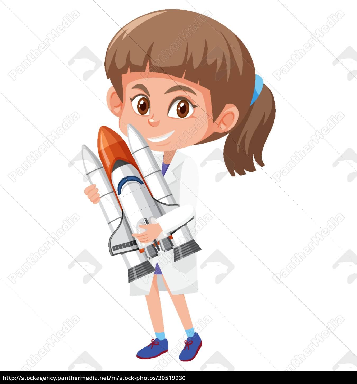 kinder, in, wissenschaftler, kostüm, zeichentrickfigur, isoliert - 30519930