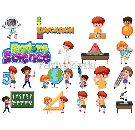 set, of, children, with, education, objects - 30520427