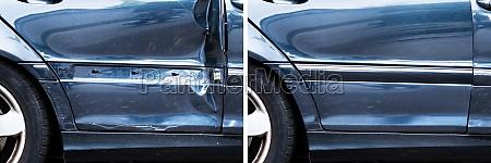 foto von auto dellen reparatur
