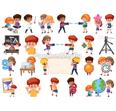 set, of, children, with, education, objects - 30540029