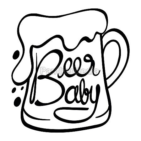 wortausdruecke fuer bier baby