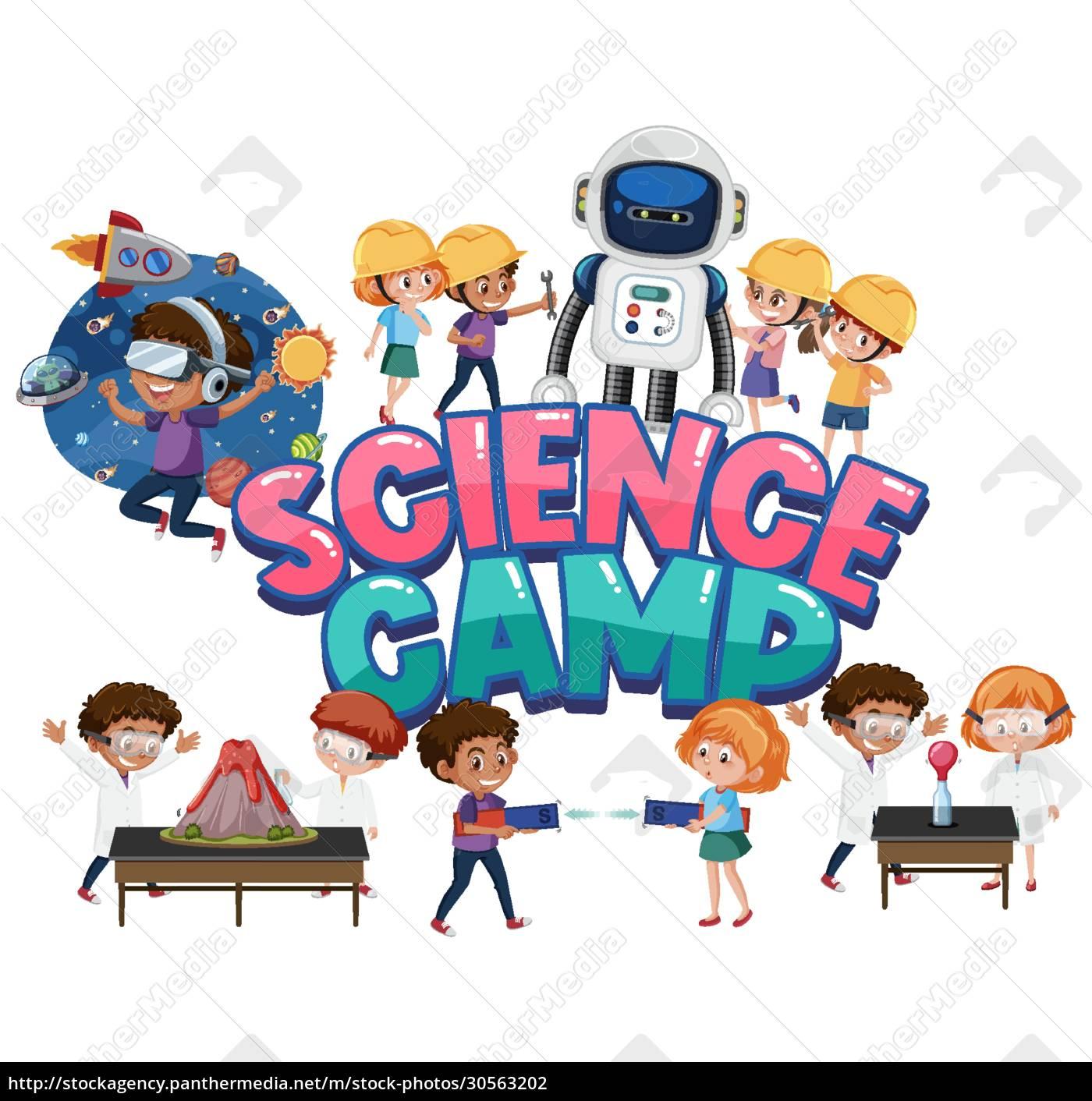 science, camp, logo, und, set, von - 30563202