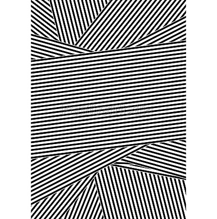 black, and, white, abstract, striped, design - 30581271