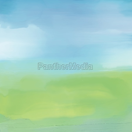 abstrakte landschaft in aquarell