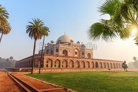 hymayun's, tomb, hauptansicht, keine, menschen, indien, neu-delhi - 30647675