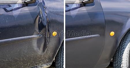 auto dellen reparatur vorher