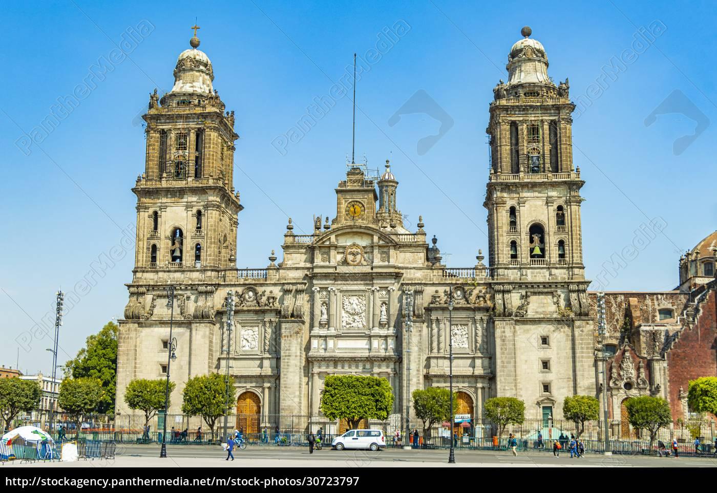 kathedrale, von, mexiko-stadt, architektonisches, meisterwerk, blauer - 30723797