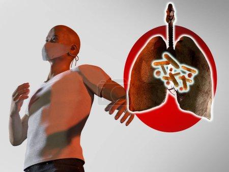 hintergrund gesundheit atemwege krankheit medizin konzept