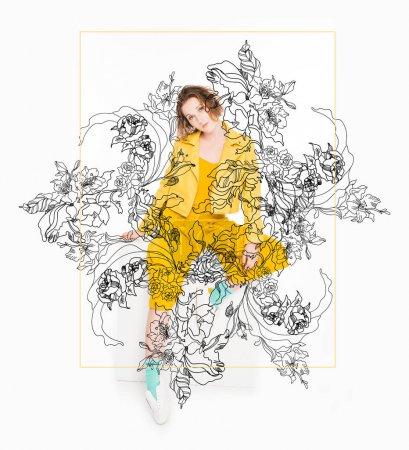 gelb illustration schoen person studio maedchen
