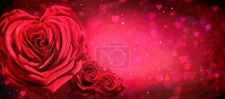 rot, hintergrund, entwerfen, geschenk, glänzend, form - B331554194