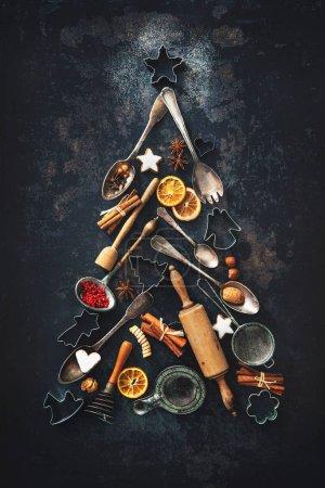 Tisch, rot, Hintergrund, Gestalt, Feier, Weihnachten - B171661278