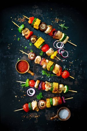 Hintergrund, frisch, Fleisch, Lebensmittel, Holz, Kochen - B377032338