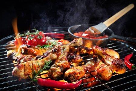 Hintergrund, Sommer, im Freien, Fleisch, Lebensmittel, Kochen - B369700236