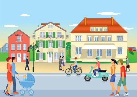 Grafik, Illustration, Menschen, Familie, Auto, Verkehr - B135144974