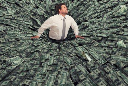 Geld, Unternehmen, Finanzen, Herbst, Mann, schwarz - B187506700