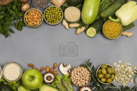 grün, Hintergrund, Frisch, Gesund, Samen, ungekocht - B348925606