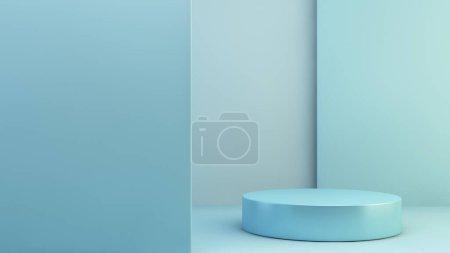 blau, Hintergrund, Grafik, Illustration, Design, Raum - B371776172