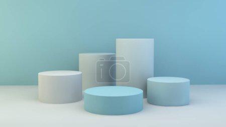blau, Hintergrund, Grafik, Illustration, Design, Raum - B370785256