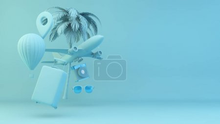 gelb, weiß, Objekt, Design, Tasche, Urlaub - B374867018