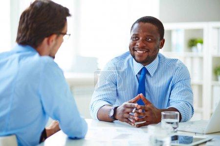 Unternehmen, jung, Lächelnd, Menschen, Männer, Afrika - B130582534
