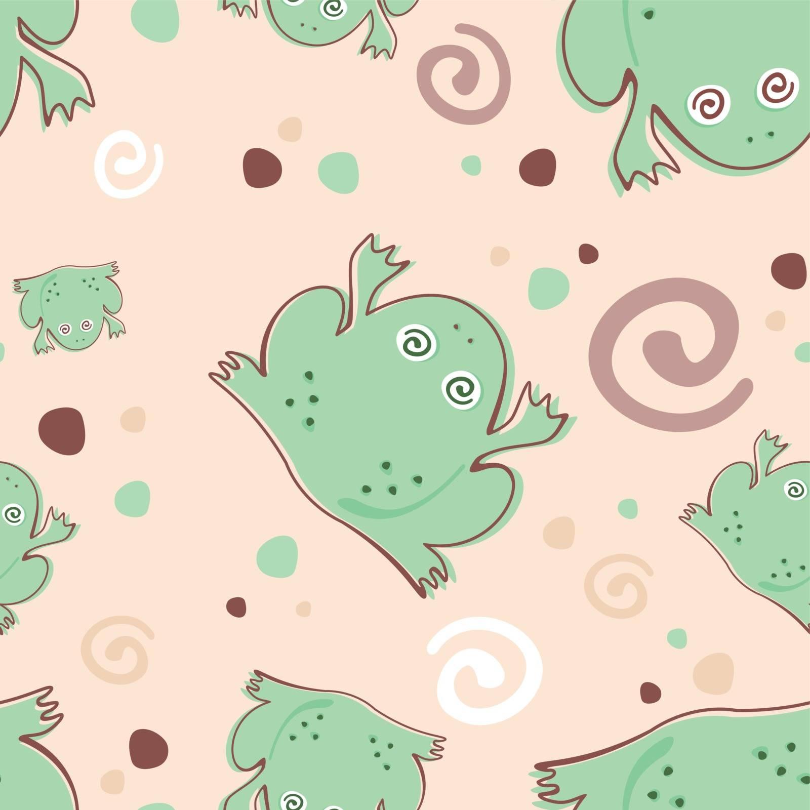 frosch vektor design muster textil cartoon
