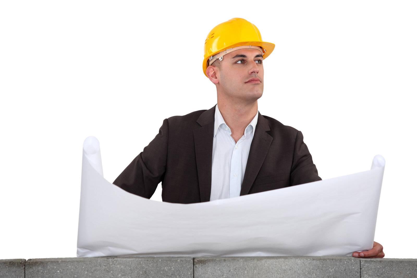 adult, agent, architect, black, blueprint, businessman - D8089850