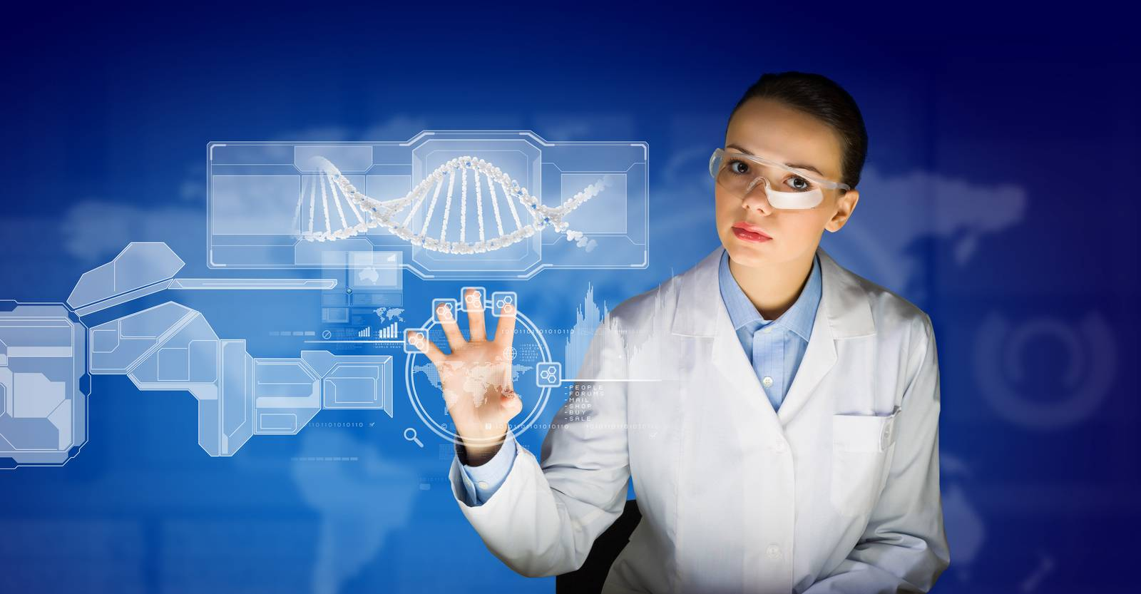 woman, dna, medical, hospital, interface, clinic - D9267494