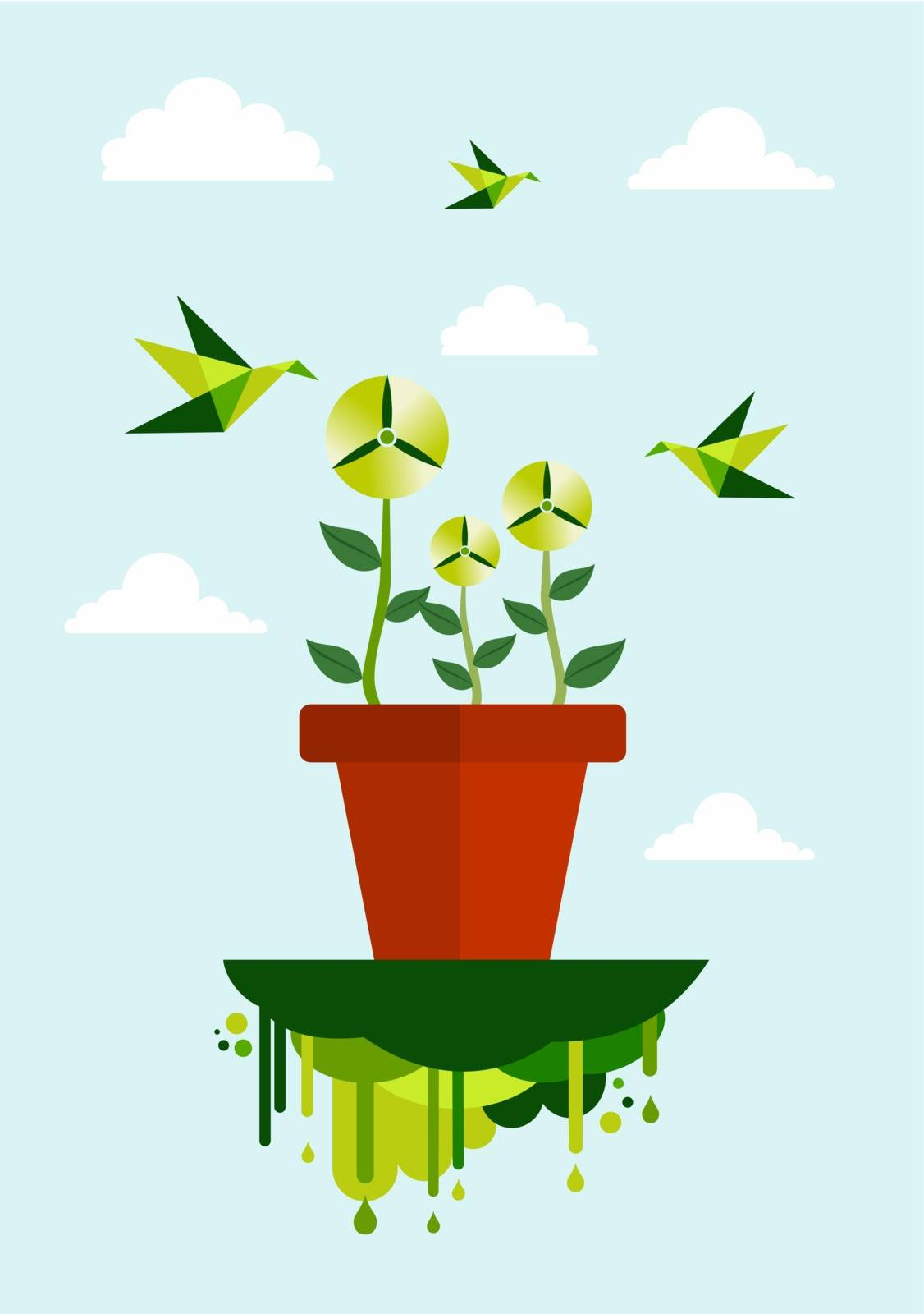 umwelt natur OEkologie energie topf pflanze