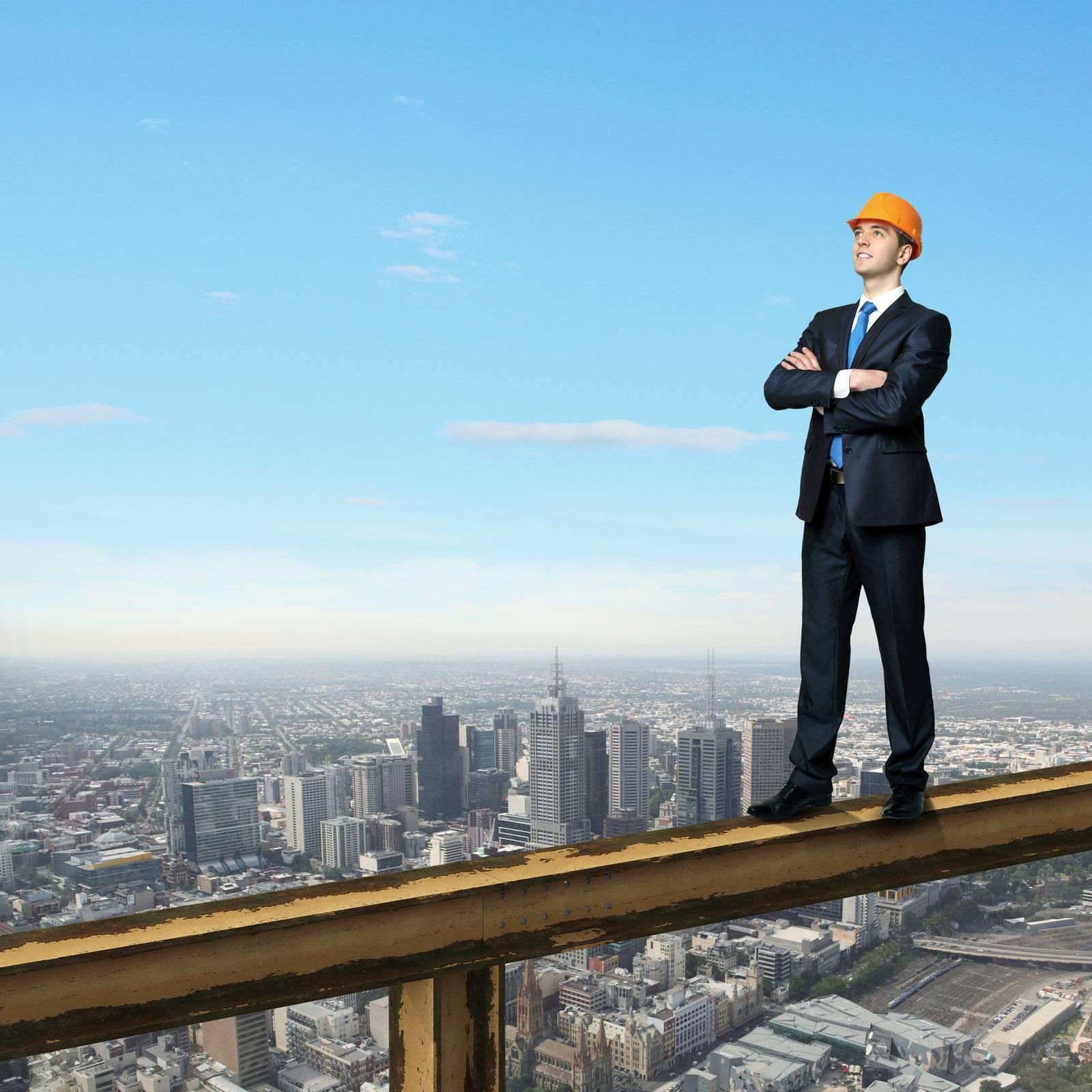 construction, industry, business, architect, helmet, supervisor - D6542716