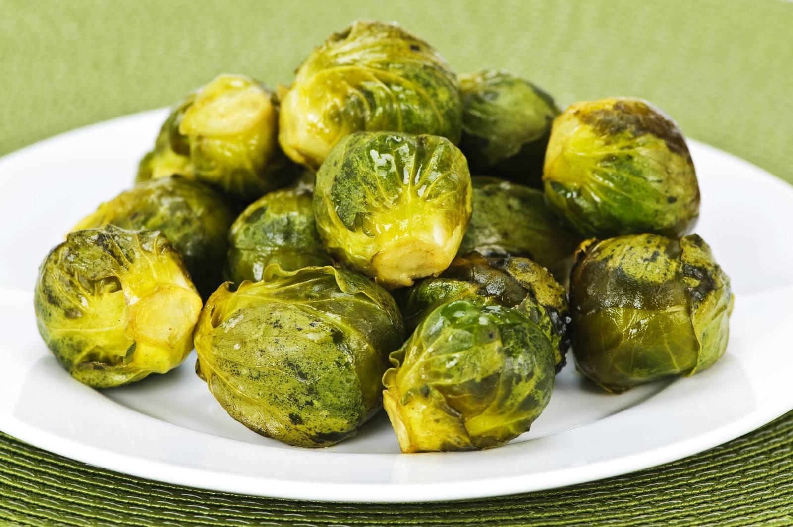 Brussels sprossen, Brüssel, grün, sprouts, geröstet, gekocht - D851080