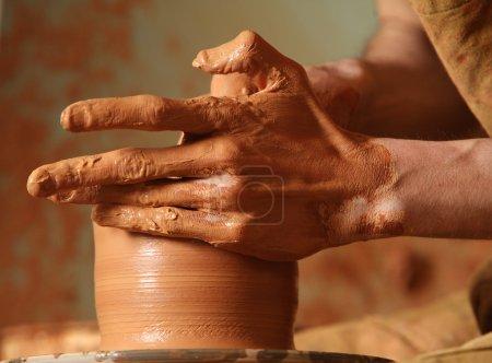 gestalt mensch kunst braun tasse keramik