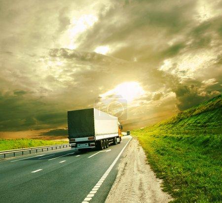 farbenfroh, Am, Himmel, Sonne, Fahrzeug, Verkehr - B36026425