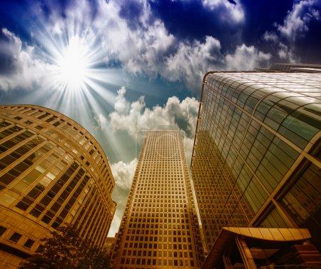 Unternehmen, Finanzen, Szene, Sonnenuntergang, Abenddämmerung, Architektur - B37479787