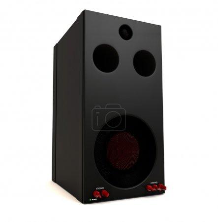 rot, groß, Computer, isoliert, Ausrüstung, Studio - B36990089
