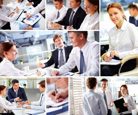 Konzern, weiß, Hintergrund, Glücklich, Unternehmen, Person - B13723659