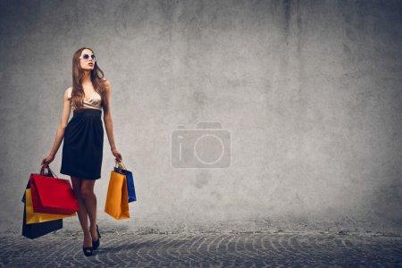 farbe konzern hintergrund einkaufen tasche schoen