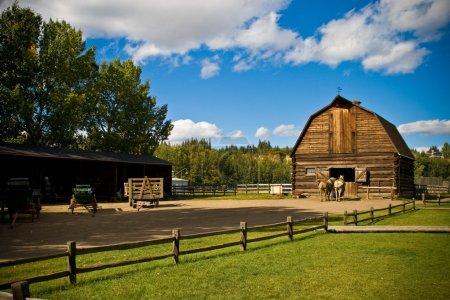 alt landwirtschaft ranch pferde scheune pferdestaelle
